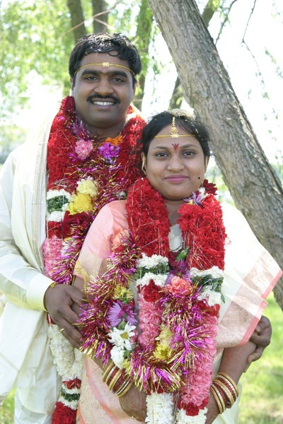 Indian Wedding Site on Hindu Bride And Groom After Wedding Vows