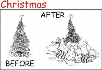 christmas before and after