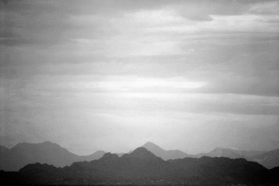 Hazy Mountains in Arizona