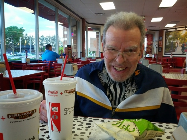 John Enjoys a meal