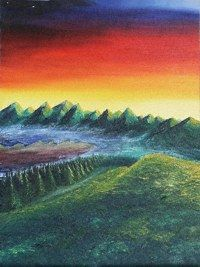 dreamers hill oil painting