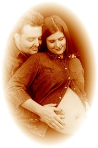 Portrait adams family pregnant