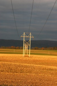 power lines pennsylvania countryside