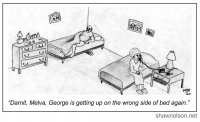 wrong side of bed cartoon