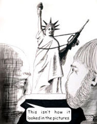 Liberty Cartoon