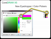 Color Pick Tool in CorelDRAW