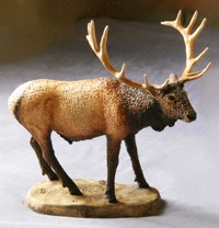 elk bull sculpture