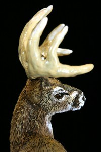 whitetail deer sculpture