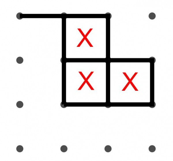Dots game marking scores example