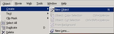 create new object